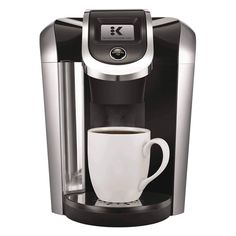 A premium coffee maker. The Keurig Coffee Maker features revolutionary Keurig Brewing Technology, designed to read the lid of each K-Cup, K-Mug, or K-Carafe pod to brew the perfect beverage e K Cup Coffee Maker, Coffee Maker Reviews, Pod Coffee Makers, Coffee Pods, Coffee Shop, Coffee Beans, Cappuccino Maker, Keurig Cleaning, Cleaning Tips