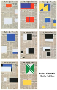 Marine Hugonnier, New York Times, week of February to February 2005 from the series Art for Modern Architecture (Homage to Ellsworth Kelly), Ellsworth Kelly, Simple Blog, Editorial Design, Textures Patterns, Layout Design, Design Design, Modern Architecture, Contemporary Art, Collage