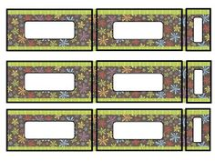 Template for Classroom Organizer Bins.  Stop by my blog to grab a copy of the template.