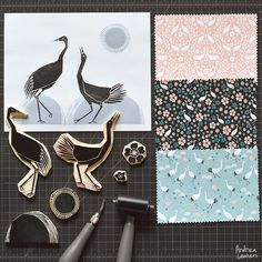 Tsuru Blossoms - New Fabric Collection by Andrea Lauren