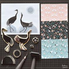 Andrea Lauren: Tsuru Blossoms - New Fabric Collection by Andrea Lauren