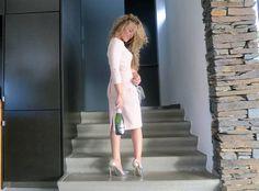 White Dress, Nude, Dresses, Fashion, Vestidos, Moda, Fashion Styles, Dress, Fashion Illustrations