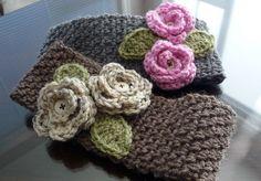 Crochet For Children: Free Crochet Wide Headband Pattern Knit Or Crochet, Crochet Scarves, Crochet Crafts, Yarn Crafts, Crochet Hooks, Crochet Projects, Crochet Headbands, Crocheted Hats, Warm Headbands