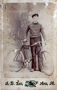old cabinet card bicycle pic