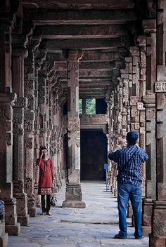 Let's capture the Qutub Memories of Delhi, India