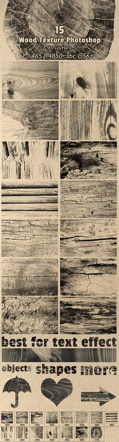 Wood Textures Brushes for Photoshop