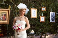 Whimsical Alice In Wonderland Wedding. Not over the top, love how she did it!