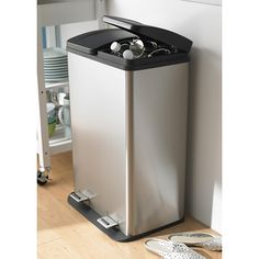 KSP Duplex Double Step Garbage/Recycling Can – Large – Modern Home Cleaning Remedies, Pull Out Bin, Garbage Recycling, Smart Kitchen, Kitchen Stuff, Kitchen Reno, Kitchen Trash Cans, Recycle Cans, Modern Dollhouse