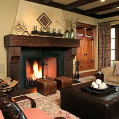 Fireplace Cypress Mantle Design, Pictures, Remodel, Decor and Ideas - page 2