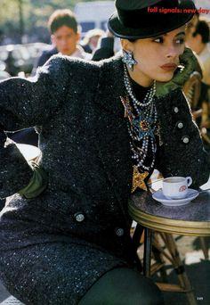 1989 US Vogue ''New Day''.Ph Patrick Demarchelier. YSL.