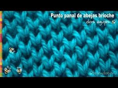Punto frijol tejido a crochet: bello y reversible! / Crochet bean stitch! -Tejiendo Perú - YouTube