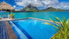 That would be a nice pool to have!  The St. Regis Resort at Bora Bora Island