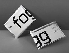 Silver foil and black ink print by Bunch for fixed cost international mobile data service Fogg.