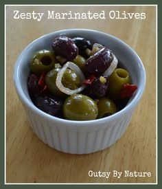 Zesty Marinated Olives - Gutsy By Nature www.gutsybynature.com