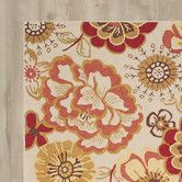 Found it at Wayfair - Micah Hand-Hooked Ivory / Red Indoor / Outdoor Area Rug