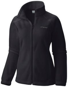 Large, Black-An updated Columbia classic, this soft, cozy fleece offers instant insulation in a versatile, everyday style with a new, more active slim cut.