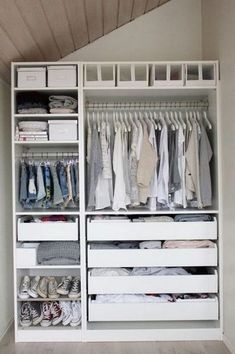 26 IKEA hacks for your Ikea wardrobe - house decoration more - 26 IKEA hacks for your Ikea wardrobe # wardrobe ideas - Small Bedroom Wardrobe, Ikea Wardrobe, Ikea Closet, Bedroom Closet Design, Wardrobe Design, Closet Designs, Wardrobe Ideas, Small Closet Space, Small Space Storage