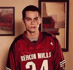 He'll do it beat up, wearing a lacrosse jersey, just for you. | Community Post: Reasons Why Dylan O'Brien Crying Is The Best Thing Since Sliced Bread
