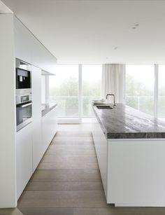 White kitchen, direction I'm going in.....dark benchtop???