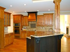 DreamBuilt's kitchen, part of a home build project of the Mallory, a Frank Betz design.  Love the cabinet color!