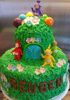 Teletubbies birthday cake I made for my one year old