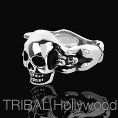 LADY-KILLER SKULL Stainless Steel Ring for Men | Tribal Hollywood