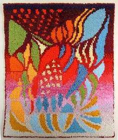 """MA.NI. rag rug """"scarabocchio n.2"""" tappeto da parete realizzato ad uncino"""