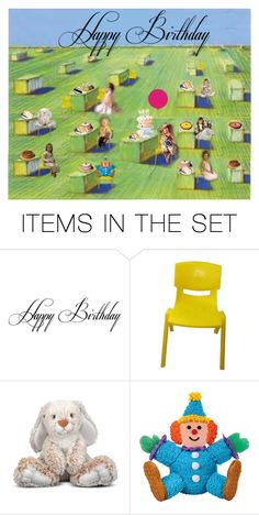 """HAPPY BIRTHDAY"" by bb60477 ❤ liked on Polyvore featuring art"