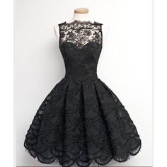 Dress: black lace lace prom wedding vintage sophisticated sexy cute... ❤ liked on Polyvore