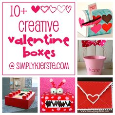 10 Fun and Creative Valentine Boxes! Have you started making yours yet? My Funny Valentine, Valentine Day Boxes, Homemade Valentines, Valentines Day Party, Valentine Day Crafts, Holiday Crafts, Holiday Fun, Valentine Ideas, Printable Valentine