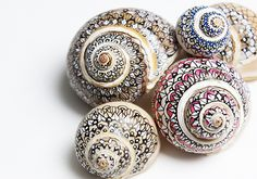 Shells decorated with Sharpies.                         Gloucestershire Resource Centre http://www.grcltd.org/home-resource-centre/