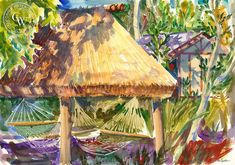 Tavarua Palapa is an original watercolor painting by Ken Goldman.This artwork is also for sale as a fine art giclée print on premium watercolor paper. Watercolor Logo, Watercolor Paper, Watercolor Paintings, Watercolors, Torrey Pines, California Art, Dog Beach, Artwork Prints, Bald Eagle