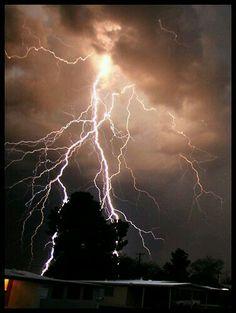 Lightning over Tucson Arizona USA