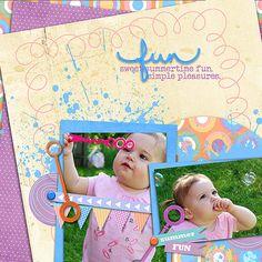 by: Miss Mint | Pinwheel Bubbles Digital Scrapbook Kit from www.peppermintcreative.com