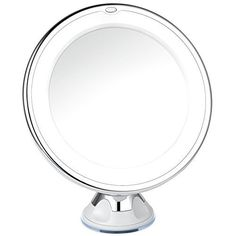 Charmax 7x Magnifying Lighted Makeup Mirror With Bag, Natural LED Light Bathroom Vanity Mirror, Cordless Travel Mirror, Chrome >>> Find out more about the great product at the image link.