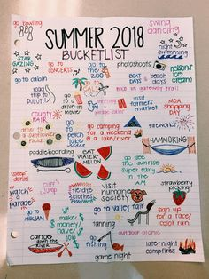 Simple Bullet Journal Ideas to Simplify your Daily Activity - Summer Bucket List Summer Bucket List For Teens, Summer Fun List, Summer Goals, Teen Bucket List, Senior Bucket List, Teenage Bucket Lists, Fun Bucket List Ideas, Bucket List For Couples, College Bucket List