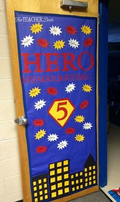 It's a new year in grade with a new theme to boot. This year is going to be a MARVEL-ous one with our new Superhero themed classrooms. Superhero School Theme, Superhero Bulletin Boards, Superhero Classroom Decorations, Superhero Teacher, School Decorations, School Themes, Classroom Themes, Teacher Doors, School Doors