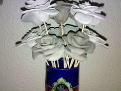 Hand made clay roses