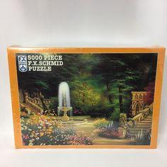 F.X. Schmid 5000 Piece Jigsaw Puzzle Gothic Garden 1997 New Sealed 62 x 42 In #FXSchmid