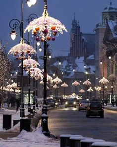 Merry Christmas everybody :)) Christmas Lights in Warsaw Old Town, Poland