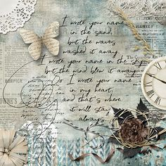 I wrote your name in my hear Hard To Say Goodbye, Your Name, Digital Scrapbooking, Serenity, Vintage World Maps, Artsy, Layout, Sea, Writing