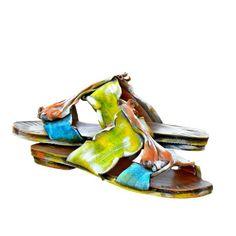 Luxurious Handmade Ancient Greek Leather Sandals for Women. Leather Sandals, Shoes Sandals, Greek Sandals, Iris, Cuff Bracelets, Wedges, Toenails, Ancient Greek, Luxury