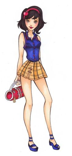 Snow White in high school Fan art Snow White and the Seven Dwarves