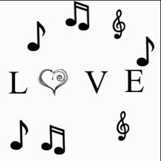 Music, love, music notes, heart, pretty(:  P.s. I made this! :)