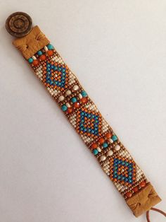 Indian Summer. Hand Loomed Beaded by FlyByNightBracelets on Etsy