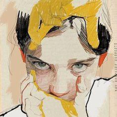 drawings and sketches Art Sketches, Art Drawings, Portrait Art, Portraits, Arte Sketchbook, Guache, Ap Art, Art Graphique, Art Plastique