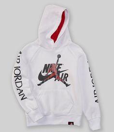 Jordan Big Boys JumpmanNike Air Classics Hoodie - White S Jordan Outfits, Nike Outfits, Swag Outfits, Boy Outfits, Casual Outfits, Summer Outfits, Pullover Hoodie, Nike Hoodie, Outfit Jeans