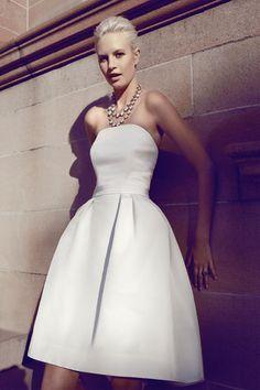 Monique Lhuillier dress and Pierre Winter necklace.