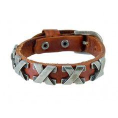 Adjustable Leather Rivet Wrist Band