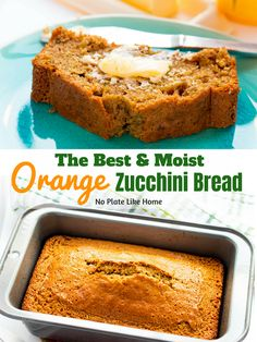 The Best Moist Orange Zucchini Bread recipe is flavored with orange zest and juice, ground cloves and cinnamon. It contains canola oil, flour white sugar, eggs, fresh garden minced zucchini etc. to take your zucchini bread to the next level! Orange Zucchini Bread Recipe, Moist Zucchini Bread, Zucchini Bread Recipes, Quick Bread Recipes, Baking Recipes, Pumpkin Zucchini Bread, Lemon Zucchini Muffins, Zucchini Cake, Lemon And Coconut Cake